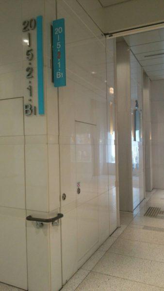 オフィス棟エレベーター(低層階用)